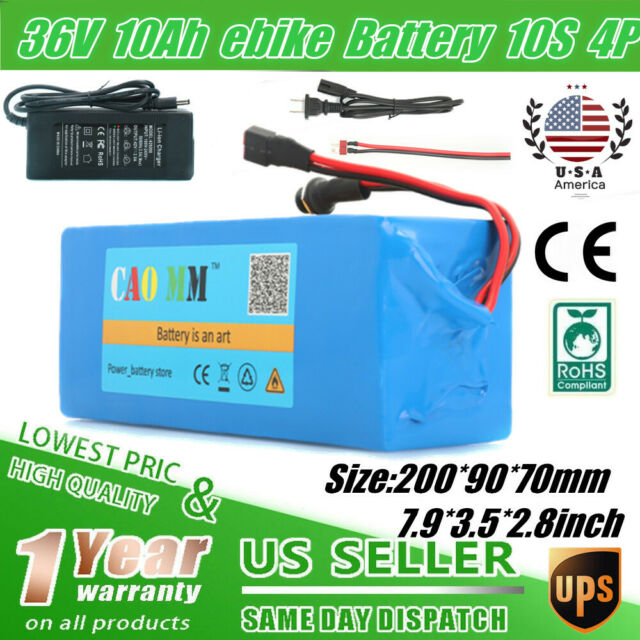 36V 15Ah Lithium Li-ion Rechargeable Battery with Charger BMS for 500W E-Bike