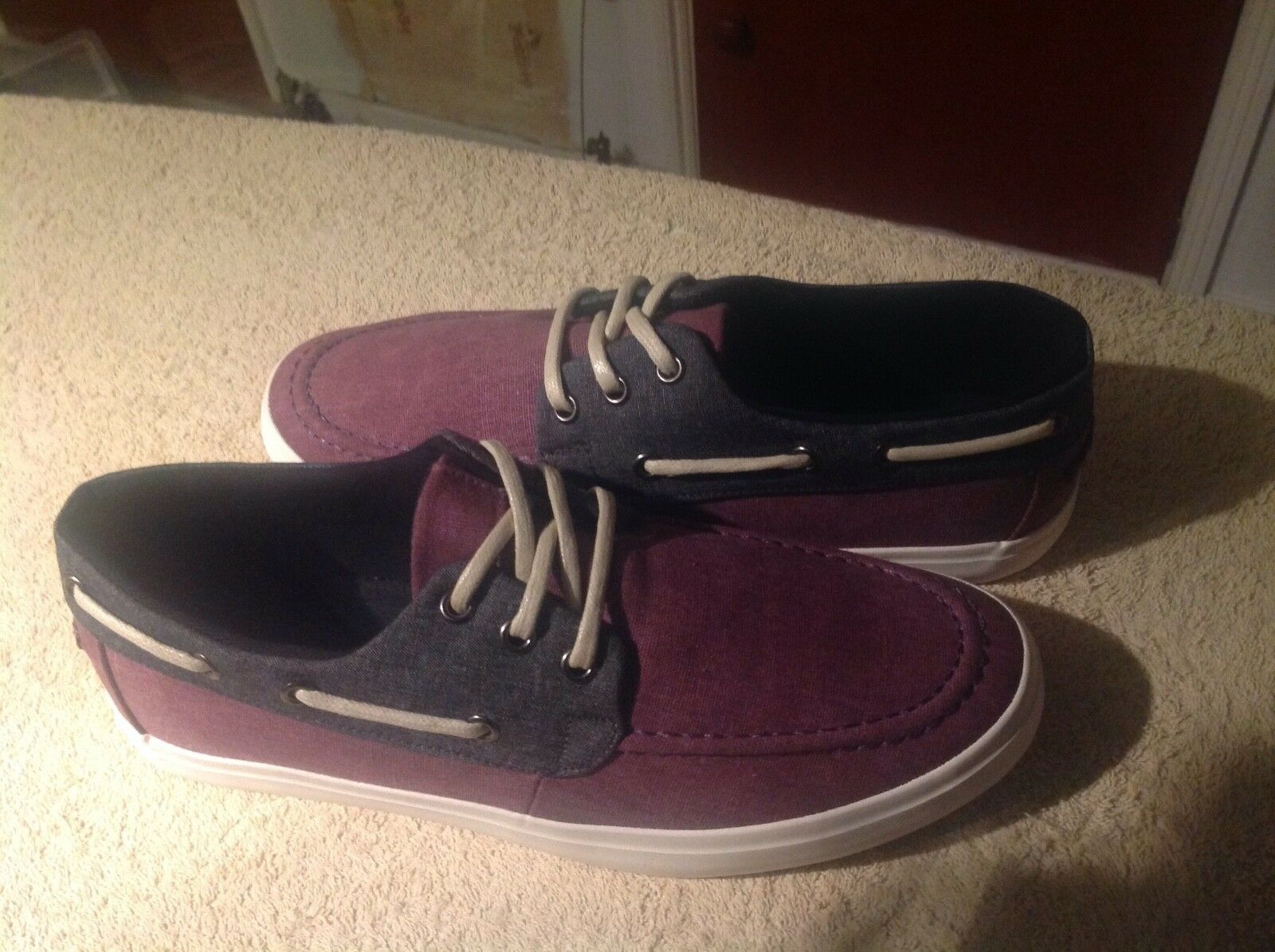 Men's Purple Laced Trainers From New Look