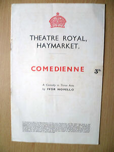 THEATRE-ROYAL-HAYMARKET-Programme-1938-COMEDIENNE-by-Ivor-Novello