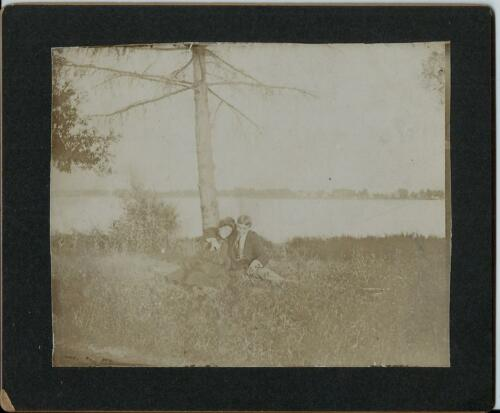 1901 Cabinet Photo Young Lovers Nice's Orchard Grand Island NY Measer Kropp