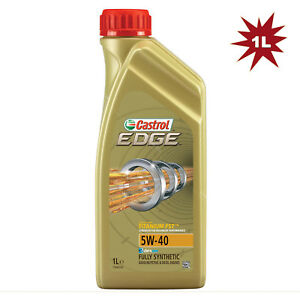 Castrol Edge Titanium 5W-40 FST Fully Synthetic Car Engine Motor Oil - 1 Litre