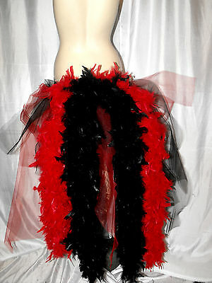 Aufstrebend Big Red Black Dancer Burlesque Layer Bustle Belt Feathers Carnival Pride Xs Xxxx SchnäPpchenverkauf Zum Jahresende