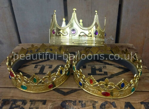 Plastic King/'s Crown with Gems Great for school dress up royal plays