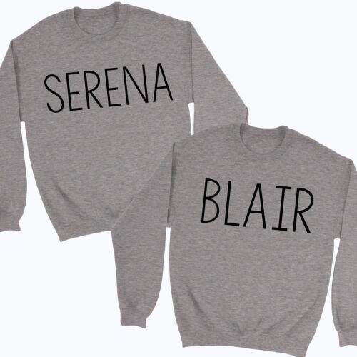 Best Friends Matching Jumpers Serena Blair Sweatshirts BFF Duo Gossip Girl TV