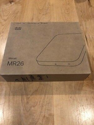 Meraki MR26-HW Cloud Managed Access Point WAP UnClaimed With 1 Year ENT License