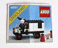 Lego 6681 Legoland aus dem Jahr 1981 Bauanleitung gebraucht ohne Steine 49