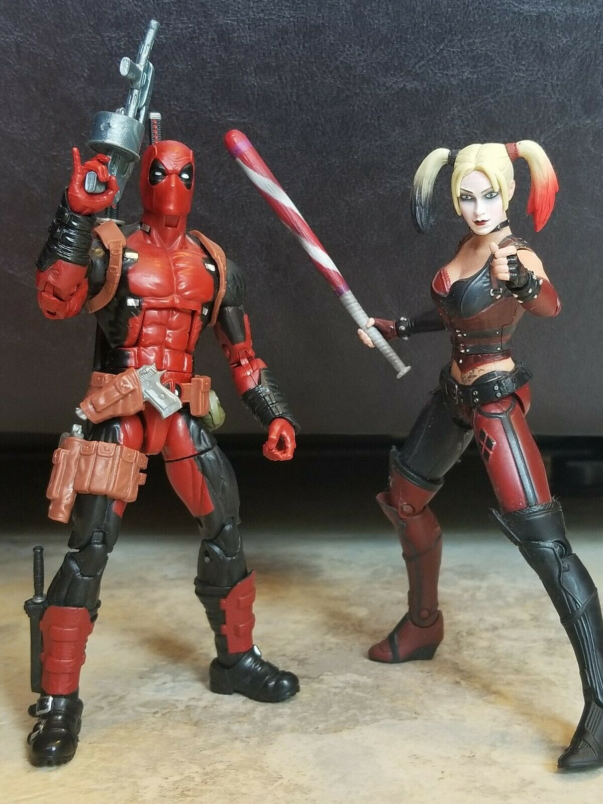 6  Deadpool Figure Marvel Legends X-Men AND AND AND DC Harley Quinn Figure Set (Loose) 225f56