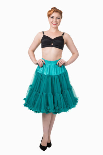 Emerald anni/'50 Rockabilly Super Soft 23 pollici Sottoveste Gonna Da Banned Apparel
