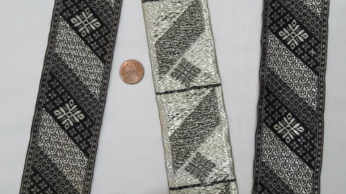 """5.08 Cm 02/"""" wide By The Yard Jacquard Trim Woven Border Sew Ribbon T866"""