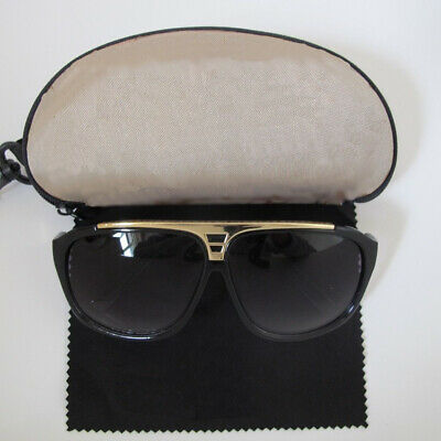 Black & Gold Milionario Occhiali Da Sole Con Custodia * Gratis + Panno *-mostra Il Titolo Originale Materiali Di Alta Qualità