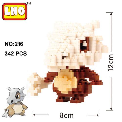 LNO #216 342PCS Pokemon Cubone Diamond Nano Block Brick Building New