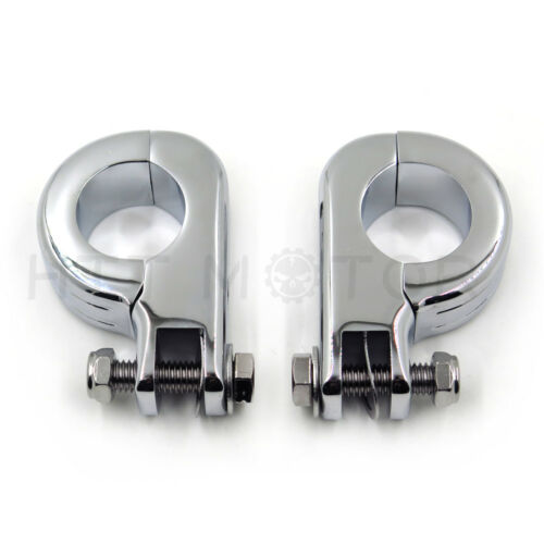 """1.25/"""" Highway Foot Peg Mounting Kit For Harley Touring Road King Engine Bars New"""