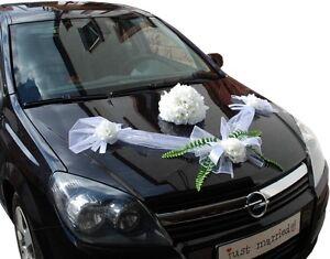 Autodeko Hochzeit Brautauto Autoschmuck Hochzeitsauto Autogirlande