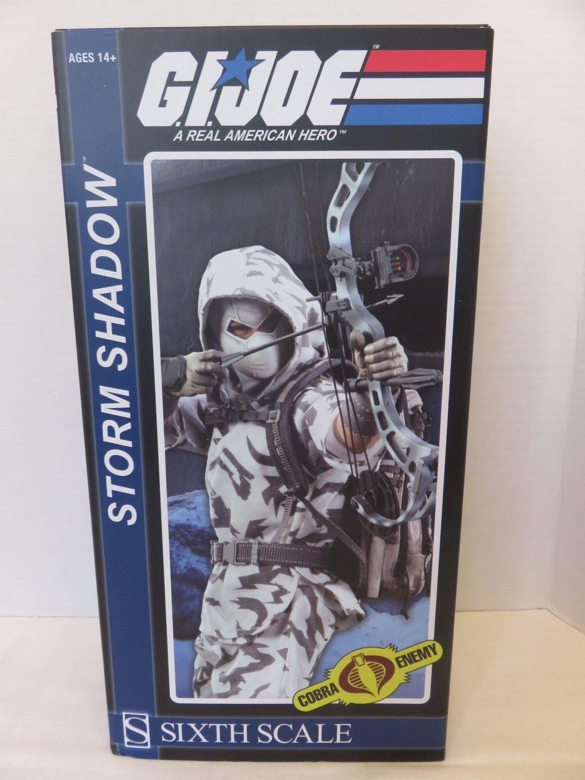 GI JOE Storm Shadow Ninja Sixth Scale Cobra Enemy Sideshow Action Figure Hasbro