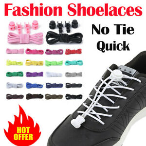 3Sets No Tie Elastic Tieless Shoe Laces Shoelaces Trainers Shoes Adult /& Kid New