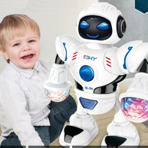 Electric LED Light Music Dancing Smart Robot Toy For Children Kids Xmas Gifts