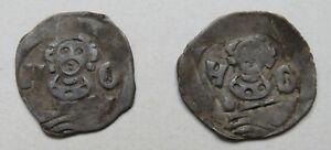 Regenburg-Heinrich-II-1277-1296-Pfennig-2-Stueck