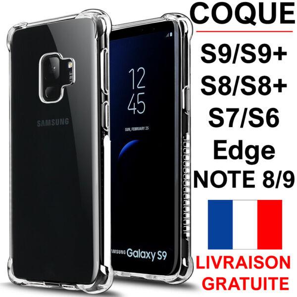 Coque Pour Samsung Galaxy S9 S9 Plus S8 S7 S6 Edge + RenforcÉ Souple Case Bumper La RéPutation D'Abord
