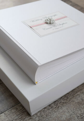 Large Personalised Wedding Photograph Album 50 pages//100 Sides Vintage Jewel.