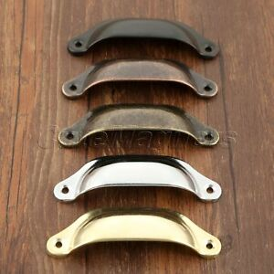 Metal Kitchen Cupboard Door Cabinet Cup Drawer Furniture Pull Shell Handles 2pcs