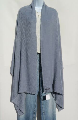 100/% Cashmere|Shawl|4 Ply|Hand Loomed|Nepal|Wide Herringbone|Gray