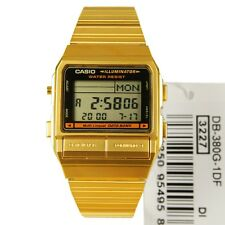 New Casio Gold Tone Digital Data Bank 30 Telememo Pages Men' s Watch DB-380G-1