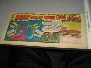 newspaper ad 1940s WHEATIES COLUMBIA BICYCLE OFFER cereal box premium