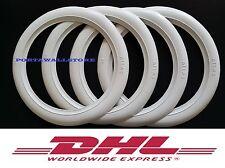 Firestone tire style 12'' White Walls Tire Insert Trim Portawalls-Set of 4.