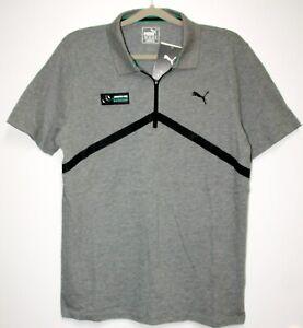 Details about Puma AMG Mercedes Polo Shirt T Shirt, Grey Size XL New Np