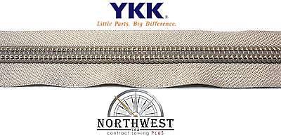 "YKK Coil Zipper Chain #10 X-Heavy Duty 1 yard Made in USA /""Peacock/"""