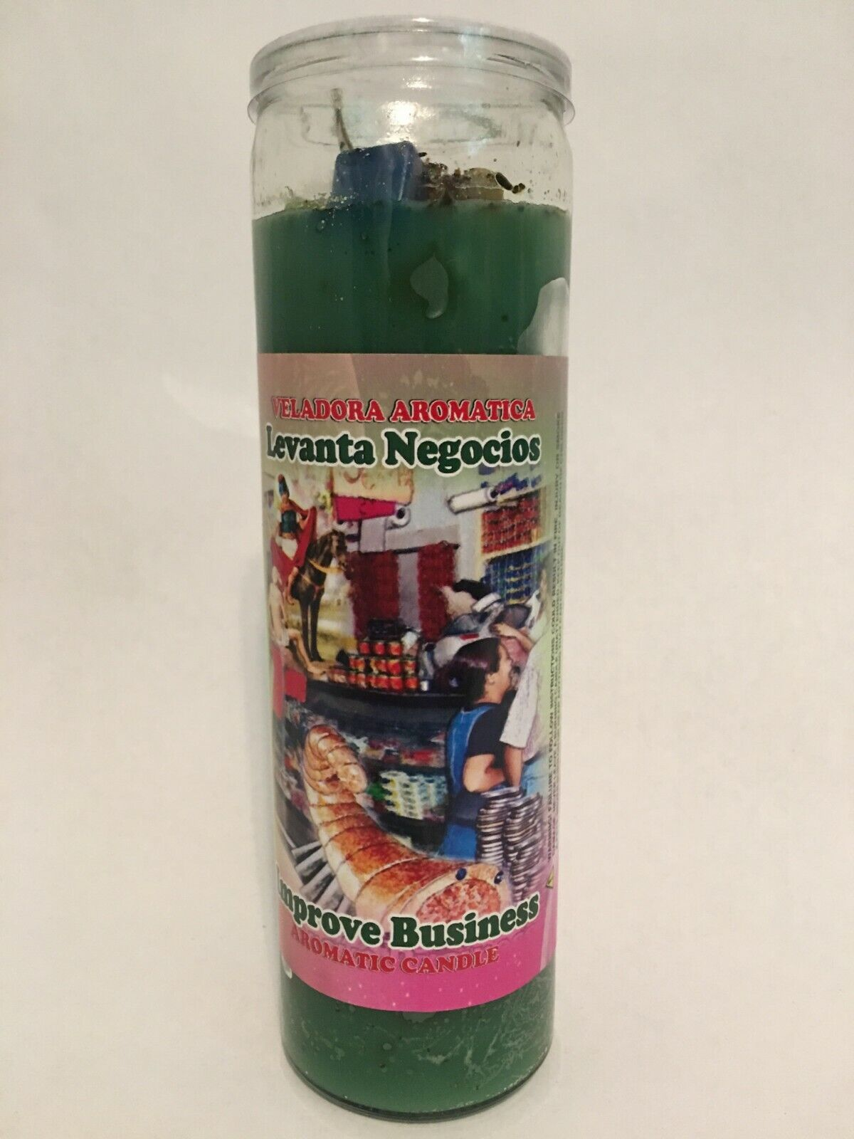 Improve Business Aromatic Candle 7 DAY GLASS CANDLE Levanta veladora aromatica