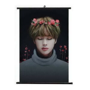 Kpop-Bangtan-Boys-JIN-Hanging-Painting-Art-Painting-Wall-Scroll-Poster