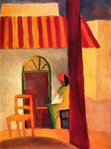 AUGUST-MACKE-TURKISH-CAFE-OLD-MASTER-ART-PAINTING-PRINT-POSTER-30X40-CM-333OMA