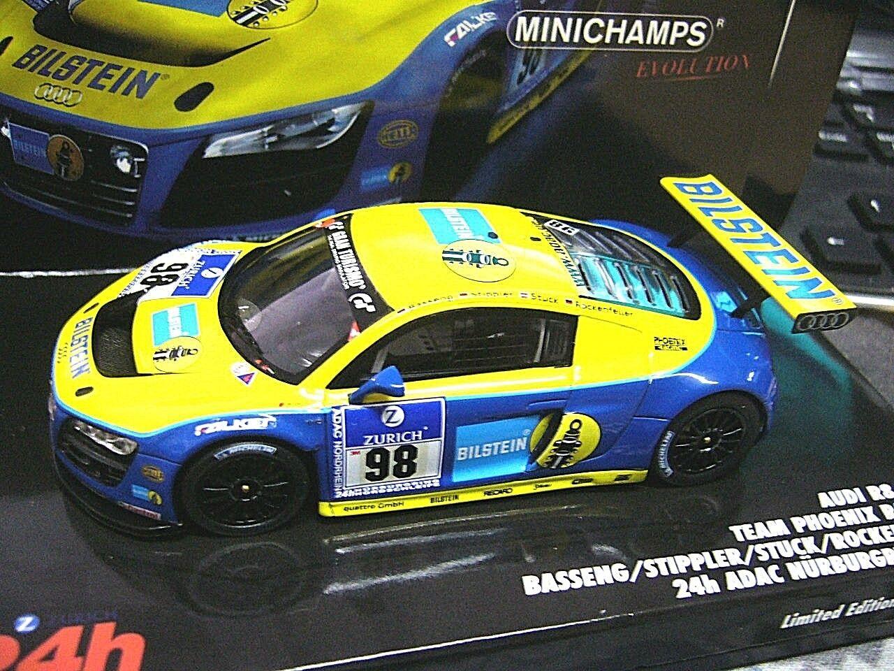 Audi r8 LMS 24 H Bilstein Nurburgring 2010 stuc Stippler RO  98 MINICHAMPS 1 43