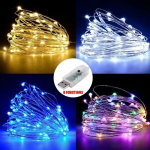 50-100-LED-String-Copper-Wire-Fairy-Lights-USB-Xmas-Party-Fairy-Decor-Lamp-5-10M