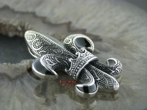 Silber Ketten Anhänger LILIE KRONE Massiv Silber 925  Style