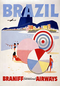 TX137-Vintage-Brazil-Braniff-Airways-Travel-Tourism-Poster-Re-Print-A4