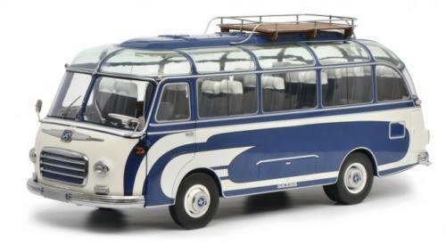 1 18 Schuco 450034700 SETRA s6 Sambabus Bleu