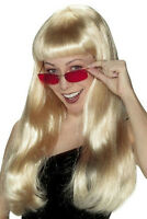 Babe Long Blonde Celebrity Style Showgirl Wig