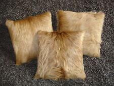 Kuhfell-Kissen, goldblond, 30x30 cm, cowhide cushion, fur pillow