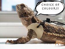 100% Real Leather Bearded Dragon Harness Leash Lead Lizard Reptile Leopard Gecko