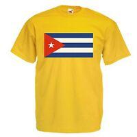 CUBA CUBAN FLAG EMBLEM T-SHIRT ALL SIZES & COLOURS