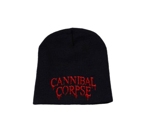Cannibal Corpse Beanie Hat Classic Original Band Logo Official New Black Size