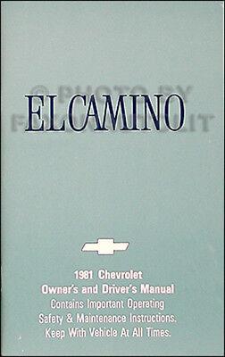 1981 chevrolet el camino owners manual 81 guide chevy 99 Monte Carlo Wiring Diagram
