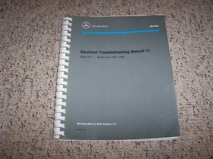 1984 mercedes benz 380sl 380 sl electrical wiring diagram rh ebay com