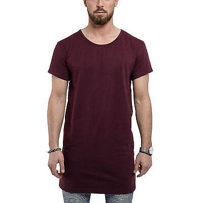Phoenix Oversize Under T-Shirt Burgundy Shirt Longshirt Herren Lang Long Tee Men
