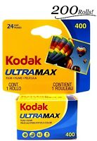 200 Rolls Of Kodak Ultramax 400 24 Exposures Gc 135-24 Color Film Exp: 6/2017