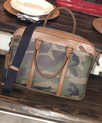 Coach Hampton Camouflage Messenger Laptop Bag