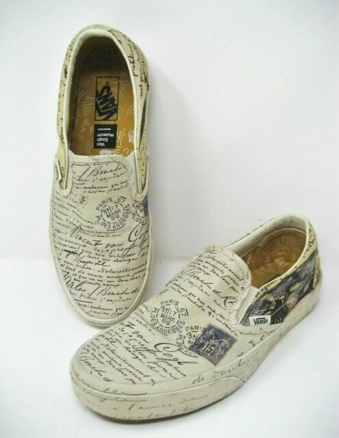 Vans X Vincent Van Gogh Skull Classic Slip On Mens 7 1 2 Womens 9 For Sale Online Ebay