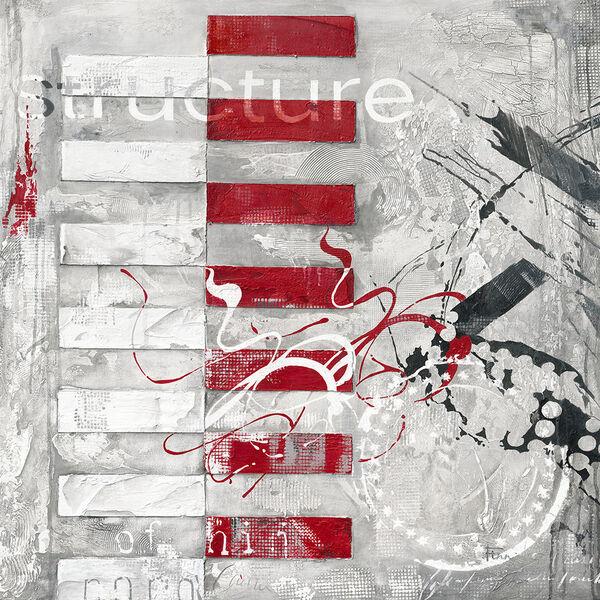 Finn  Structure Fertig-Bild 70x70 Wandbild abstrakt modern grau